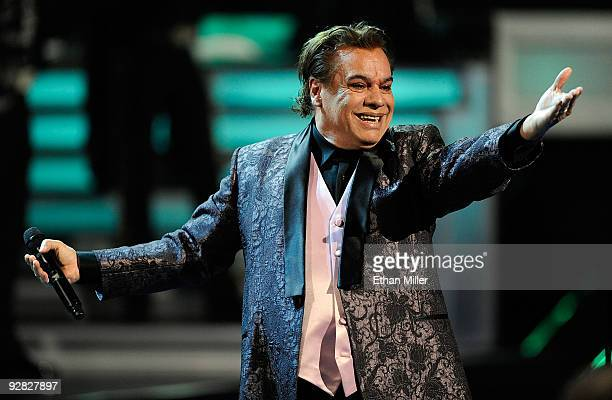 Singer Juan Gabriel performs onstage during the 10th annual Latin GRAMMY Awards held at Mandalay Bay Events Center on November 5 2009 in Las Vegas...