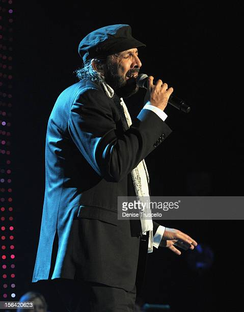 Singer Juan Luis Guerra peforms onstage during the 2012 Person of the Year honoring Caetano Veloso at the MGM Grand Garden Arena on November 14 2012...