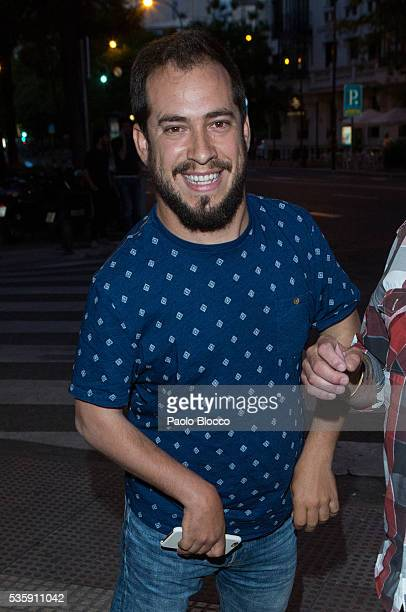 Singer Juan Manuel Montilla Macarron aka El Langui is seen arriving to 'Nuestros Amantes' premiere at Palafox Cinema on May 30 2016 in Madrid Spain
