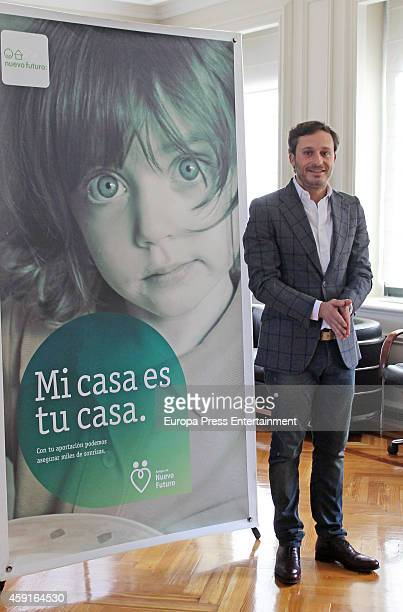 Singer Juan Pena presents 'Rastrillo Nuevo Futuro 2014' at Telefonica headquarters on November 17 2014 in Madrid Spain