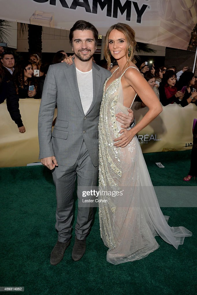 Singer Juanes (L) and actress Karen Martinez attend the 15th annual Latin GRAMMY Awards at the MGM Grand Garden Arena on November 20, 2014 in Las Vegas, Nevada.