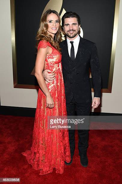Singer Juanes and actress Karen Martinez attend The 57th Annual GRAMMY Awards at the STAPLES Center on February 8 2015 in Los Angeles California