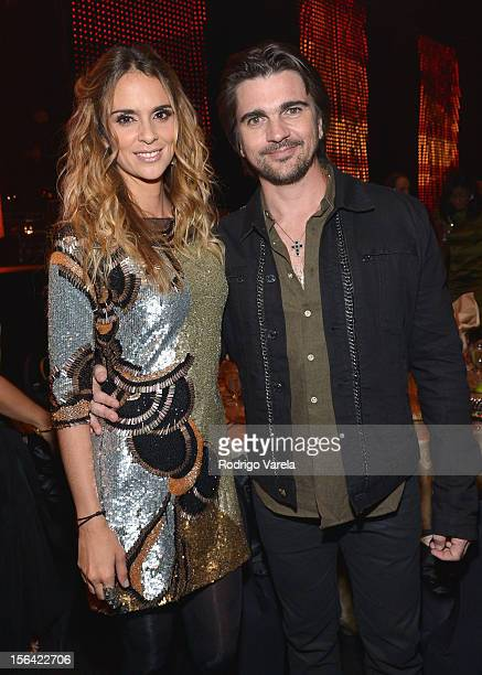 Singer Juanes and his wife Karen Martínez during the 2012 Person of the Year honoring Caetano Veloso at the MGM Grand Garden Arena on November 14...