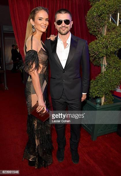 Singer Juanes and Karen Martinez attend The 17th Annual Latin Grammy Awards at TMobile Arena on November 17 2016 in Las Vegas Nevada