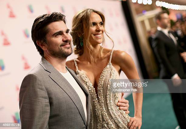 Singer Juanes and model Karen Martinez attend the 15th Annual Latin GRAMMY Awards at the MGM Grand Garden Arena on November 20, 2014 in Las Vegas,...