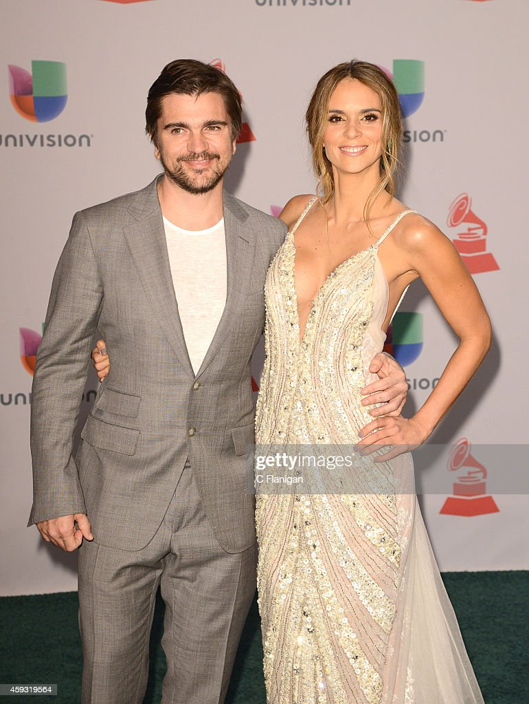 Singer Juanes and model Karen Martinez attend the 15th Annual Latin GRAMMY Awards at the MGM Grand Garden Arena on November 20, 2014 in Las Vegas, Nevada.