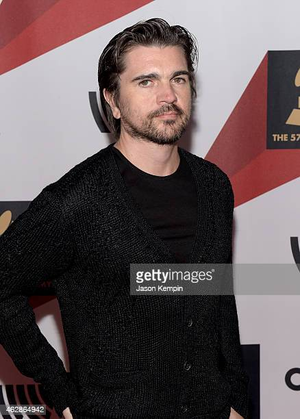 Singer Juanes attends Red Carpet Radio Backstage at the GRAMMYs presented by Westwood One during The 57th Annual GRAMMY Awards at the Staples Center...