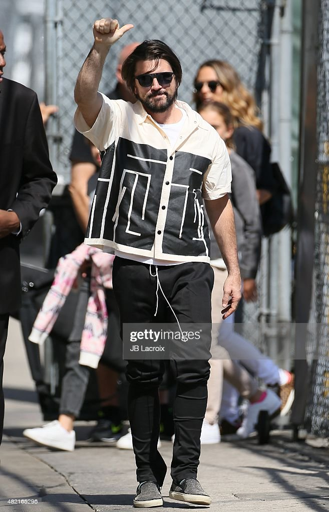 Singer Juanes is seen at the 'Jimmy Kimmel Live' show on July 27, 2015 in Los Angeles, California.