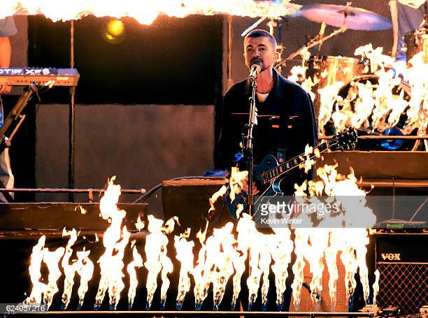 Singer Juanes performs onstage during The 17th Annual Latin Grammy Awards at TMobile Arena on November 17 2016 in Las Vegas Nevada