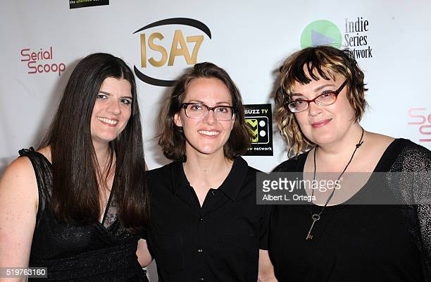Singer Judith Avers with guests at the 7th Annual Indie Series Awards held at El Portal Theatre on April 6 2016 in North Hollywood California