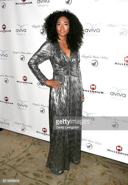 Singer Judith Hill attends A Gala to honor Avi Lerner and Millennium Films at The Beverly Hills Hotel on April 16 2016 in Beverly Hills California