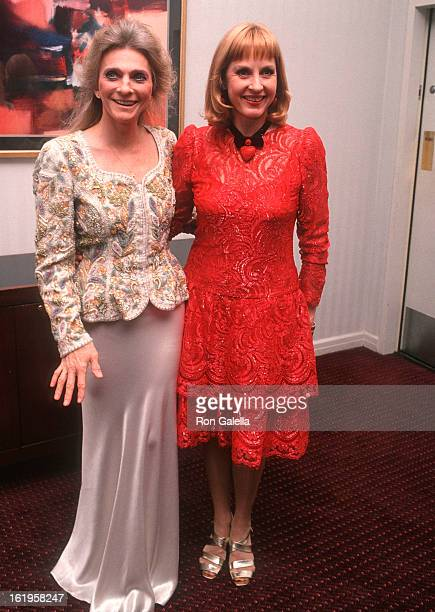 """Singer Judy Collins and TV reporter Pia Lindstrom attend the Screening of the Showtime Original Movie """"Chantilly Lace"""" on June 15, 1993 at the Walter..."""