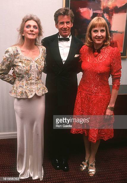 """Singer Judy Collins, fashion designer Calvin Klein and TV reporter Pia Lindstrom attend the Screening of the Showtime Original Movie """"Chantilly Lace""""..."""