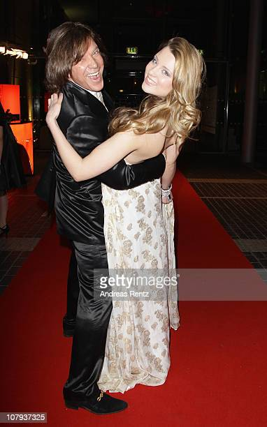 Singer Juergen Drews and his daughter and singer Joelina Drews arrive at the Berlin Press Ball 2011 at the Ullstein hall on January 8 2011 in Berlin...