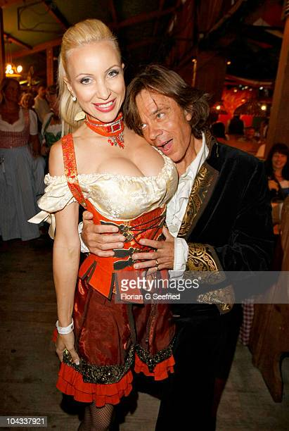 Singer Juergen Drews and wife Ramona Drews attend the 'Goldstar TV Wiesn' at the Weinzelt during the Oktoberfest 2010 at Theresienwiese on September...