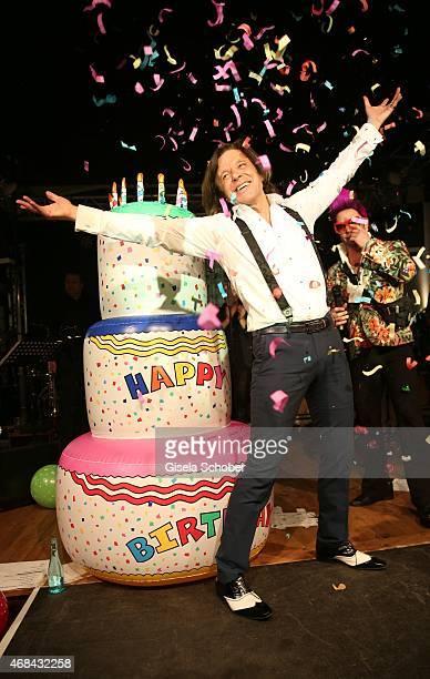 Singer Juergen Drews during Juergen Drews' 70th Birthday Party at Hofbraeuhaus on April 02 2015 in Berlin Germany
