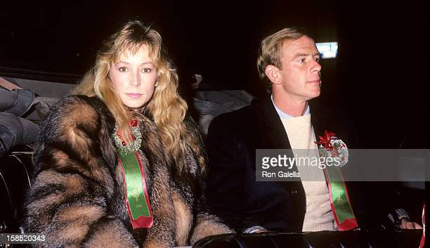 Singer Juice Newton and husband Tom Goodspeed attend Hollywood Christmas Parade on December 1 1985 at the Hollywood California