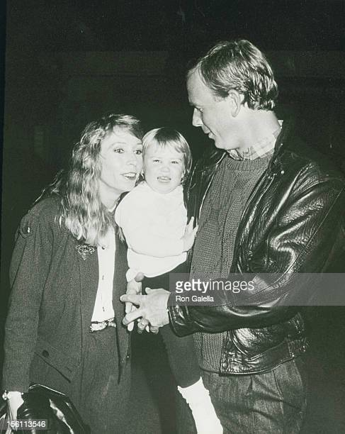 Singer Juice Newton husband Tom Goodspeed and Jessica Goodspeed attend American Film Magazine Celebrity Polo Match on March 20 1989 at the Los...