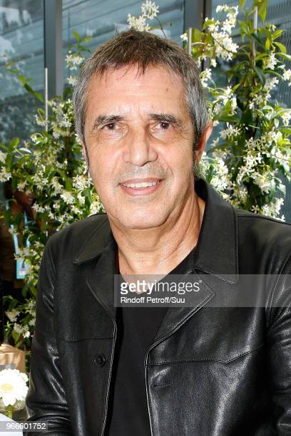 Singer Juien Clerc attends the 2018 French Open Day Eight at Roland Garros on June 3 2018 in Paris France