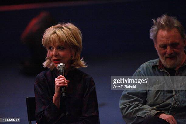 Singer Julee Cruise and actor Al Strobel attend a QA during the sixth annual Twin Peaks UK Festival at Genesis Cinema on October 4 2015 in London...