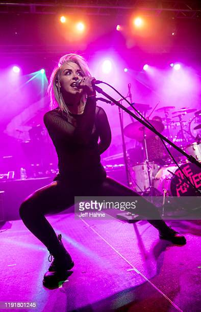 Singer Julia Lauren Bullock of The Foxies performs at The Fillmore on December 03 2019 in Charlotte North Carolina