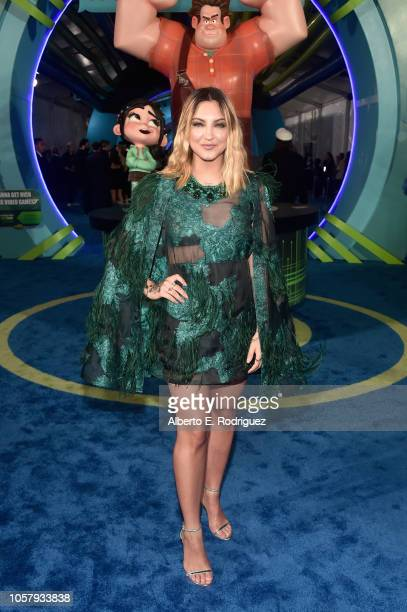 Singer Julia Michaels attends the World Premiere of Disney's RALPH BREAKS THE INTERNET at the El Capitan Theatre on November 5 2018 in Hollywood...