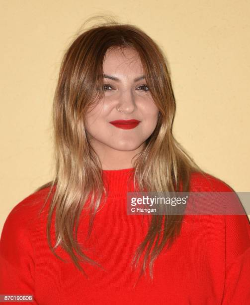 Singer Julia Michaels poses backstage during the fall version of Live in the Vineyard 2017 at the Uptown Theatre on November 3 2017 in Napa California