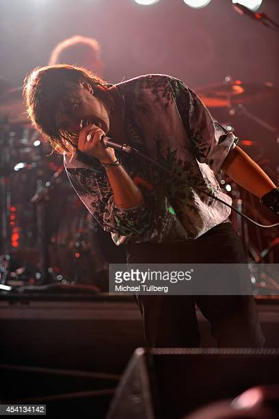 Singer Julian Casablancas of The Strokes performs during Day 2 of FYF Fest 2014 at LA Sports Arena Exposition Park on August 24 2014 in Los Angeles...