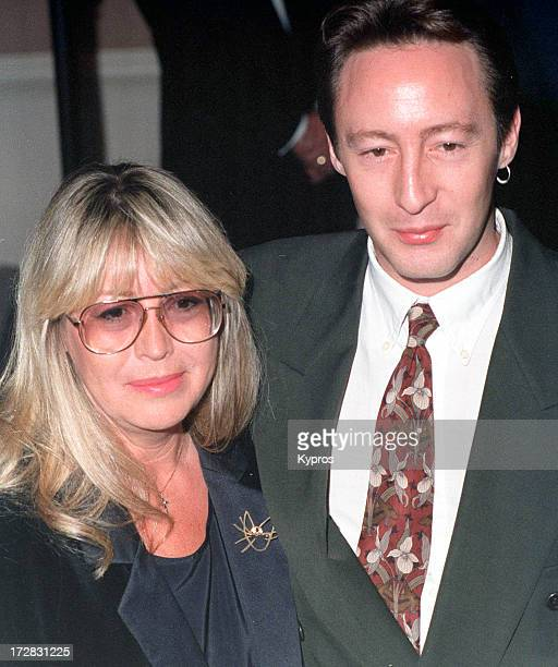 Singer Julian Lennon with his mother Cynthia Lennon 1993