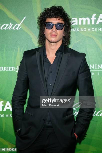 Singer Julian Perretta attends the amfAR Paris Dinner 2018 at The Peninsula Hotel on July 4 2018 in Paris France