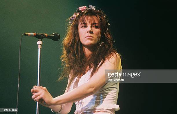 Singer Julianne Regan of All About Eve performs on stage in 1990.