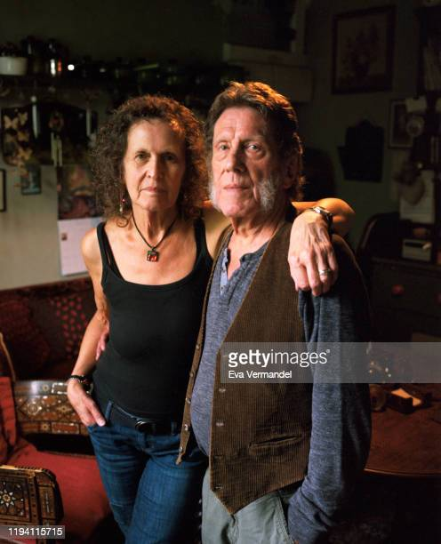 Singer Julie Driscoll Tippett and jazz pianist Keith Tippett are photographed for the Wire magazine on June 24 2019 in Gloucestershire England