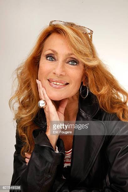 Singer Julie Pietri photographed in Paris.