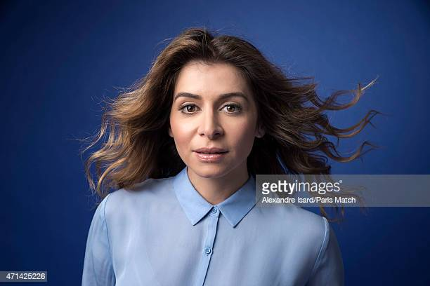 Singer Julie Zenatti is photographed for Paris Match on March 10 2015 in Paris France