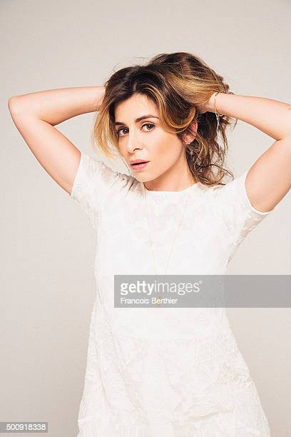 Singer Julie Zenatti is photographed for Self Assignment on June 10 2015 in Paris France