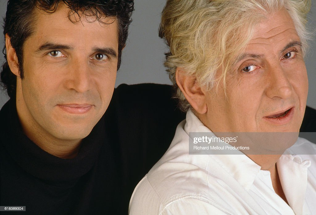 Singer Julien Clerc and His Songwriter Etienne Roda-Gil : Photo d'actualité