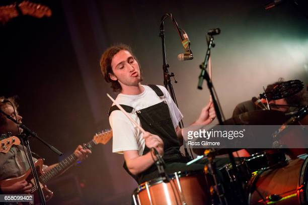Singer Julien Ehrlich of the band Whitney performs at the O2 Academy at the BBC Radio 6 Music Festival day three on March 26 2017 in Glasgow United...