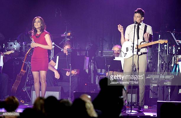 Singer Julieta Venegas performs onstage during the 2013 Latin Recording Academy Person Of The Year honoring Miguel Bose at the Mandalay Bay...