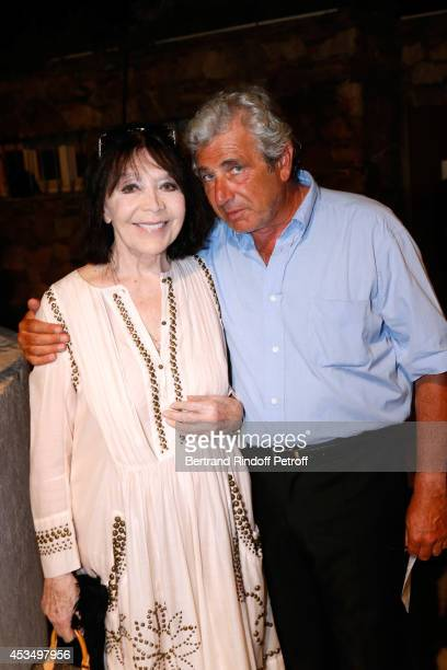 Singer Juliette Greco and Artistic Director of the Festival Michel Boujenah attend the 30th Ramatuelle Festival Day 11 on August 11 2014 in...