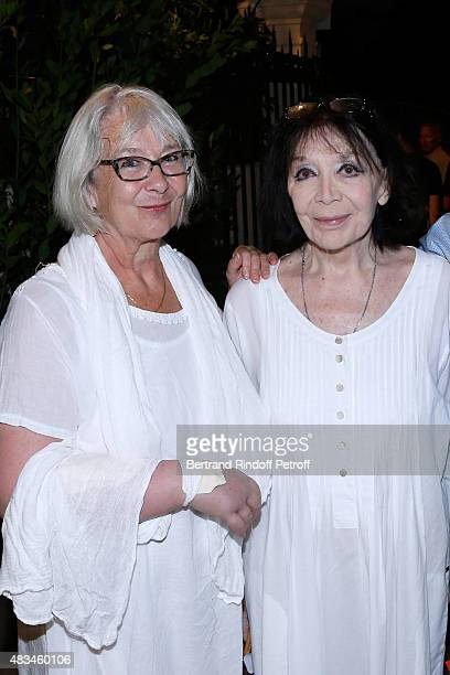 Singer Juliette Greco and her daughter Laurence attend the Alex Lutz Show during the 31th Ramatuelle Festival Day 8 on August 8 2015 in Ramatuelle...