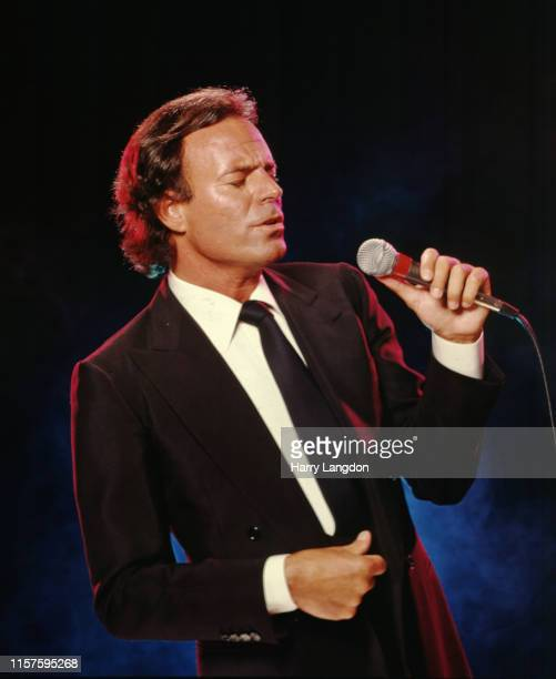 Singer Julio Iglesias poses for a portrait in 1983 in Los Angeles, California.