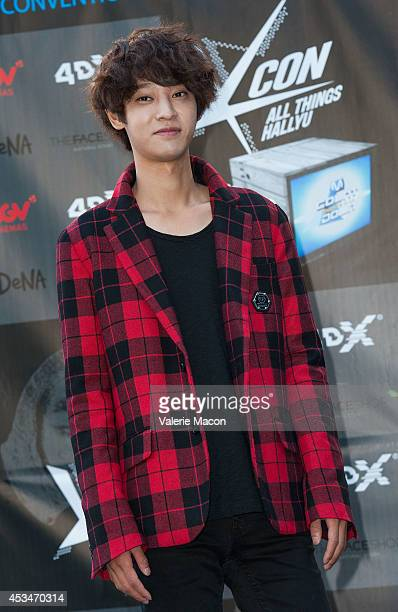Singer Jung Joon Young attends KCON 2014 Day 2 at the Los Angeles Memorial Sports Arena on August 10 2014 in Los Angeles California