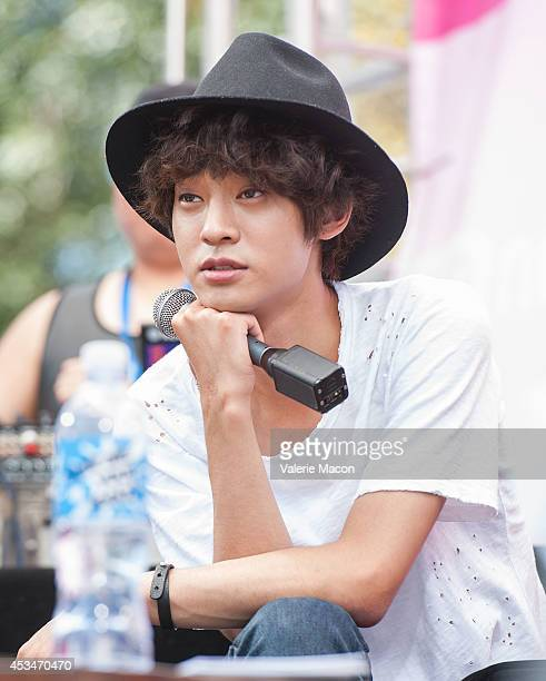 Singer Jung Joon Young attends the Mnet America show Danny From LA KCON 2014 Day 2 at the Los Angeles Memorial Sports Arena on August 10 2014 in Los...
