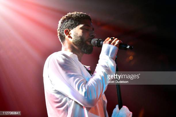 Singer Jussie Smollett performs onstage at Troubadour on February 02 2019 in West Hollywood California