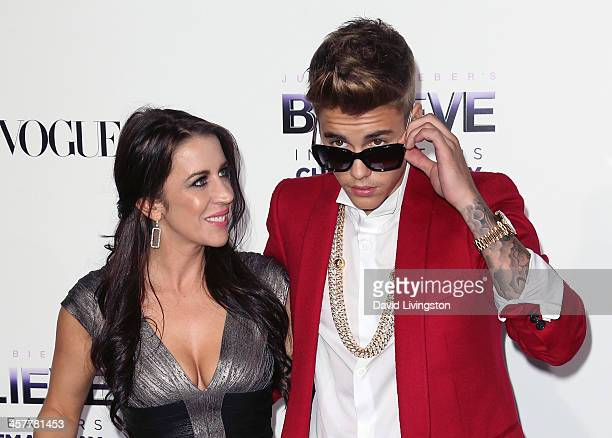 Singer Justin Bieber and mother Pattie Mallette attend the premiere of Open Road Films' 'Justin Bieber's Believe' at Regal Cinemas LA Live on...