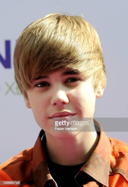 Singer Justin Bieber arrives at Variety's 4th Annual Power of Youth event at Paramount Studios on October 24 2010 in Hollywood California