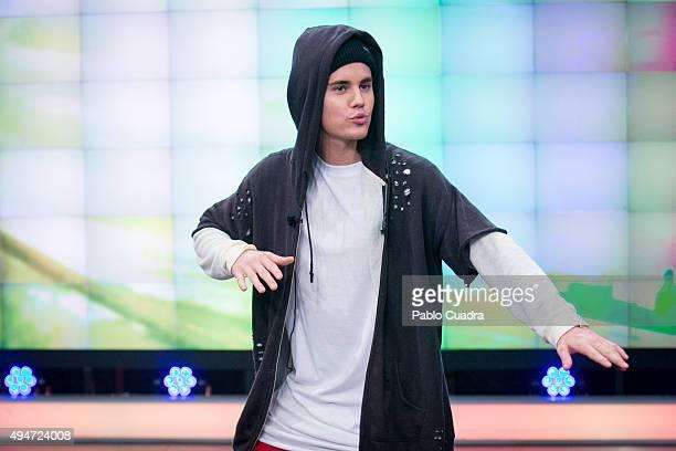 Singer Justin Bieber attends 'El Hormiguero' Tv Show on October 28, 2015 in Madrid, Spain.