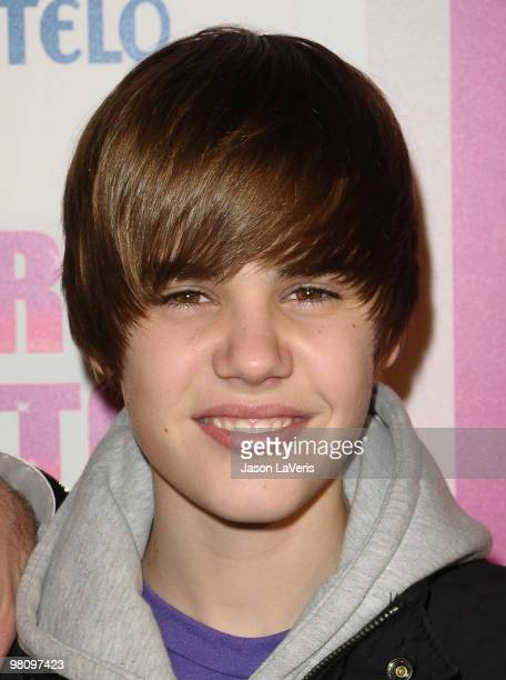 Singer Justin Bieber attends Perez Hilton's CarnEvil Theatrical Freak and Funk 32nd birthday party at Paramount Studios on March 27 2010 in Los...