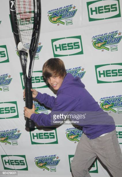Singer Justin Bieber attends the 2009 Arthur Ashe Kids Day at the USTA Billie Jean King National Tennis Center on August 29, 2009 in New York City.