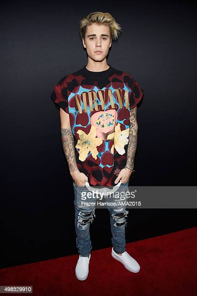 Singer Justin Bieber attends the 2015 American Music Awards at Microsoft Theater on November 22 2015 in Los Angeles California